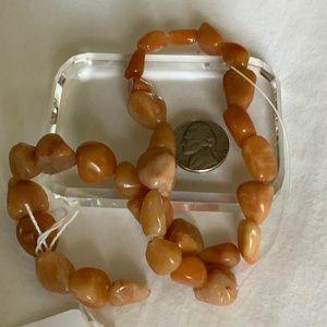 Orange Calcite Nugget Beads